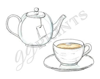 Coffee Clipart // Tea Clipart // Hot Chocolate Clipart