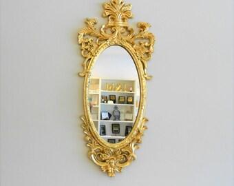 "41"" H, Wall Mirror, Decorative Wall Mirror, Oval Mirror, Decorative Mirror, Vintage Look, Large Oval Wall Mirror, Gold Mirror,Item GLOM50009"