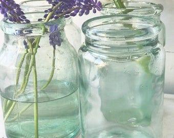 Beautiful Victorian glass preserve bottles