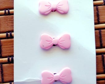 Vintage Buttons, JHB buttons, Pink Bows, Baby