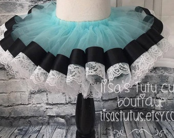 Vintage Alice in Wonderland tutu, Alice tutu, Onederland tutu, ribbon and lace tutu, Alice in wonderland tutu, blue alice tutu, lace tutu