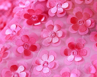 3D double layer  flower tulle
