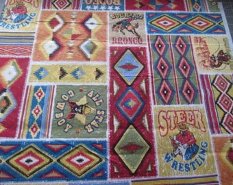 Rodeo Patch Western Southwest Cotton  Print By the Yard #501