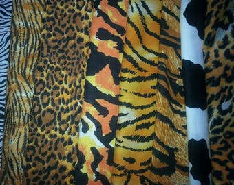 Animal Print Fat Quarter Bundle 8 Piece 100% Cotton #7