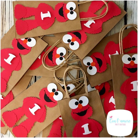 Il_570xn  sc 1 st  Catch My Party & Elmo sesame street birthday party favor bag goody bag ...