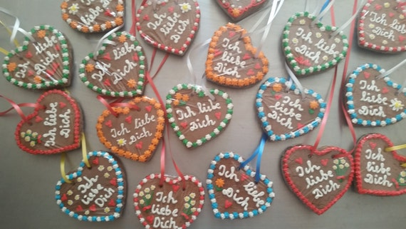 20 Gingerbread Hearts (customized) - Lebkuchen