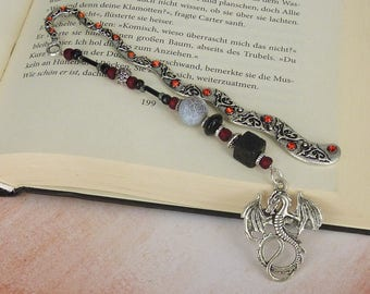"""bookmark """" dragon - storys """"  silver / gift for reader / gift for him / gift for her / gift under 20"""