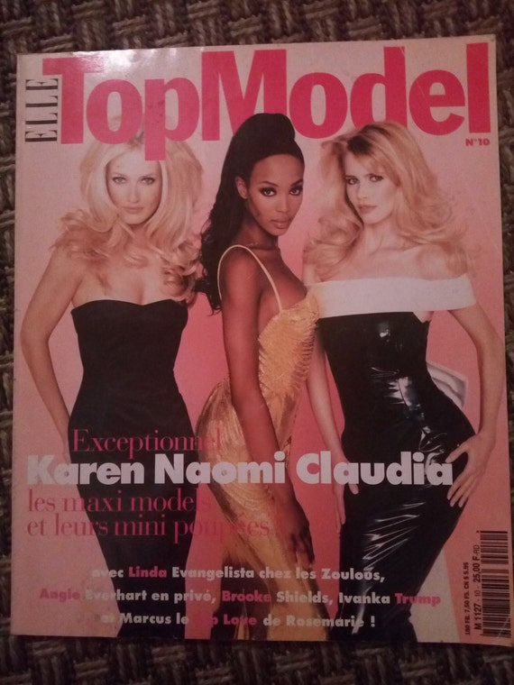 Elle magazine french Top Model no 10 Karen Naomi Claudia and Ivanka Trump