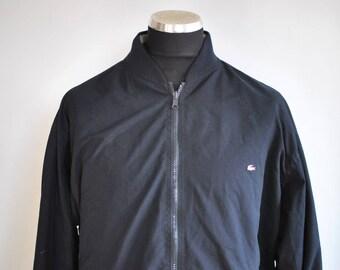 Vintage LACOSTE men's bomber jacket on 2 faces...........(397)