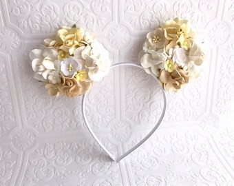 The White and Ivory Minnie Garden Goddess Ears