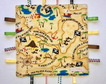 Pirate Treasure Map Taggie Blanket