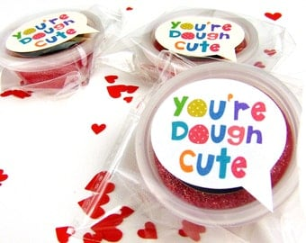 Handmade child's dough Valentines favour