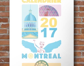 2017 Printable Calendar, Montreal, City, Urban, Architecture, French, Travel, mtl, Monument, Quebec, Canada