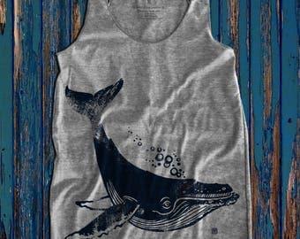 Humpback Whale graphic print  Women's Racerback Tank Top