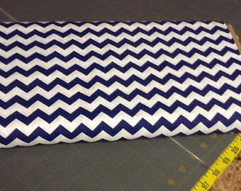 Royal blue Chevron Fabric by the yard