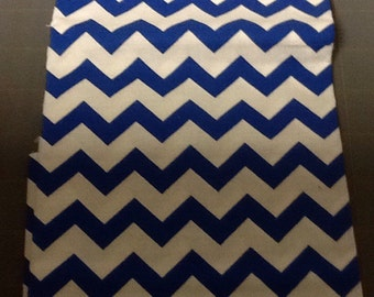 Blue Chevron Fabric by the yard