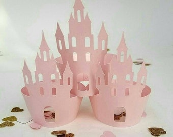 Princess Castle Cupcake Wrappers great for Princess Party or Baby Showers-12 Pieces