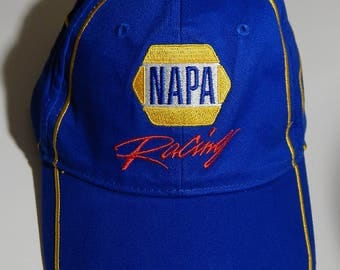 Napa Racing Blue Baseball Cap Hat 55 Nascar Adult Size