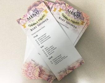 Floral Menu Cards