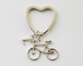 Cyclist Gift, Bike Keychains Cyclist Keychains Bike Key ring, Bicycle Initial Keychain, Bike Accessories, Custom Cycling Accessories