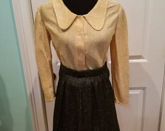 Vintage 60's Sparkle Glittery Skirt and Blouse