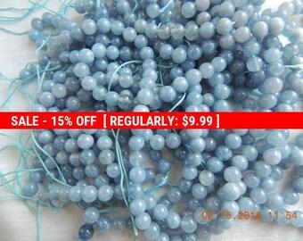 Aquamarinet 8 mm round beads for making necklaces, bracelets, earrings, Mala etc.