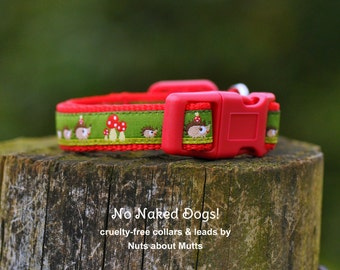 Hedgehog dog collar for small dogs and pups