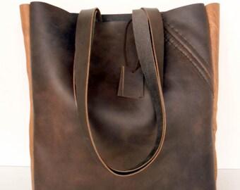 Brown Leather Tote  , Brown Leather Tote Bag, Brown Leather Tote, Leather Market Tote,RWOODB Brown Leather Bag