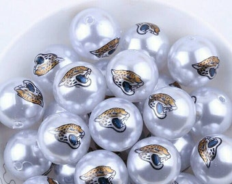 Jacksonville Jaguars inspired 20mm beads-Qty:10