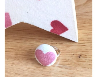 Emma Bridgewater Hearts Fabric Covered Ring