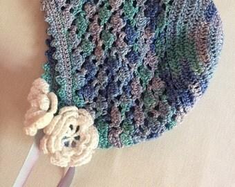 Crocheted Baby/Newborn Bonnet
