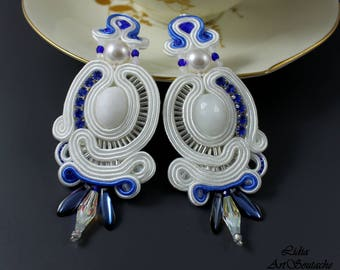 embroidered earings,hand embroidered jewelry,soutache,earrings wedding ,beaded soutache,soutache earrings,