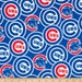 Chicago Cubs Cotton Fabric 1 Yard Sports Team 100% Cotton