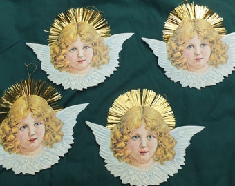 Golden Tinsel Angel Gift Adornments/Gift Tags