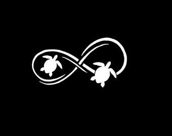 "Sea Turtle Infinity 8"" Vinyl Decal Window Sticker for Car, Truck, Motorcycle, Laptop, Ipad, Window, Wall, ETC"