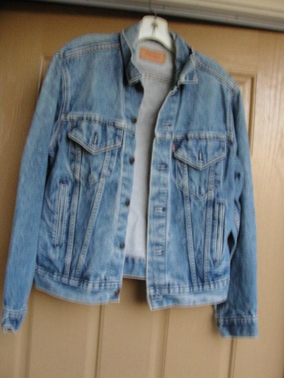 vintage 80 s 90 s levis jeans jean jacke gr e 42 herren damen. Black Bedroom Furniture Sets. Home Design Ideas