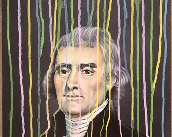 Pastel Drip Thomas Jefferson