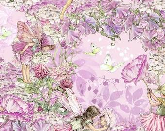 Michael Miller Fabrics - Petal Flower Fairies - DC5057-PINK-D