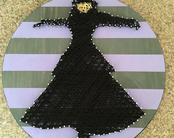 Stevie Nicks Rock A Little nail string wood art OOAK