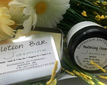 Lotion Bar and Moisturizing Cream - Choose Your Own Scents - Body Bar and Facial Moisturizers - Natural Beauty Bar - Boondock Enterprises