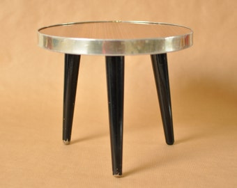 Nierentisch - Mid Century German coffee table - Round tripod table - 1950s - plant stand - kidney boomerang