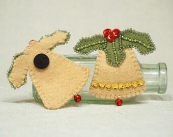 Wool Felt Christmas Bell , Bell Magnet, Felt Bell Magnet, Wool Felt Christmas Decoration *Ready to ship