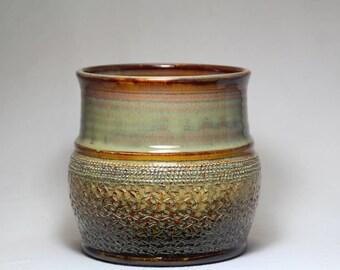 Utensil holder handthrown pottery