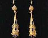 Victorian Etruscan Revival Style Earrings
