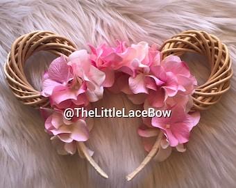 Minnie Mouse Ears Flower Headband-Ready To Ship