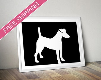 Smooth Fox Terrier Print - Smooth Fox Terrier Silhouette