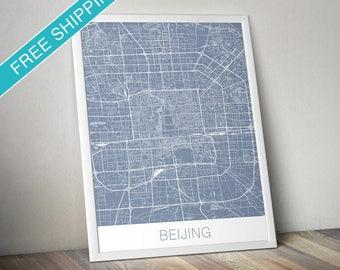 Beijing Map Art Print