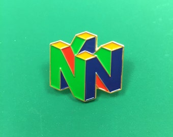 Nintendo 64 Logo Heady Festival Enamel Lapel Hat Pin Badge