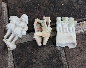 Sea Glass Oddities - 3 Porcelain Figures