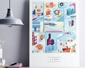 Lyon x Poster A3